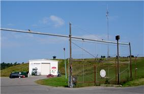 View of the Diefenbunker gate and entrance in Carp, Ottawa, Ontario, Canada