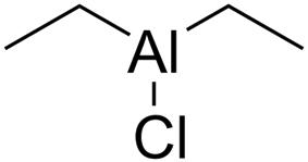Skeletal formula of diethylaluminium chloride