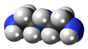Spacefill model of diethylenetriamine