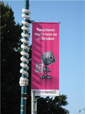 Digital Switchover banner with text saying