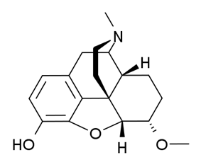 Chemical structure of Dihydroheterocodeine.