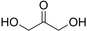 Skeletal formula of dihydroxyacetone