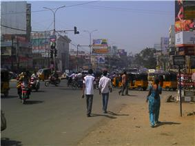 The Busy Main Road of Dilshukhnagar