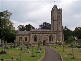 Stone building with square tower