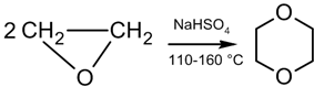 Synthesis of dioxane