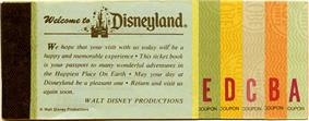 old Disneyland ticket book