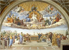 The Disputation of the Sacrament by Raphael 1509-1510.