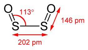 structure of disulfur dioxide, S2O2