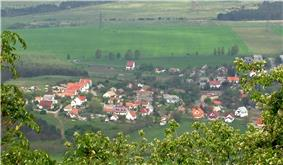 View of Diszel from the top of Csobánc