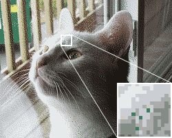An illustration of dither used in image processing.