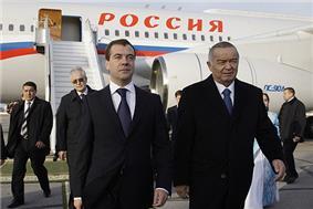 Former Russian President Dmitry Medvedev Visits Karimov (2009)