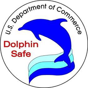 United States Department of Commerce dolphin safe label.