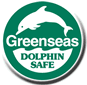 Greenseas dolphin safe label.