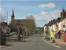 The main road in Dompierre-sur-Besbre