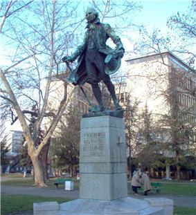Statue of Obradović in Belgrade park