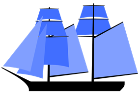 A two-topsail schooner or jackass brig flying a fore course