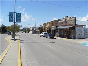 Center Street (city centre), view to the west