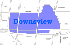 Position of Downsview