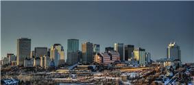 Downtown Edmonton skyline