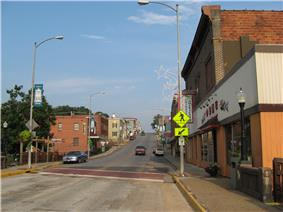 Downtown Luray in the early morning