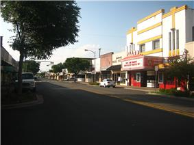 downtown Beeville showing the Rialto Theater