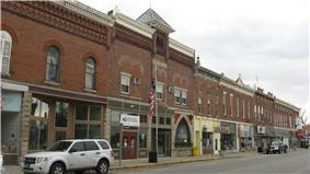 Businesses in Geneva's downtown historic district