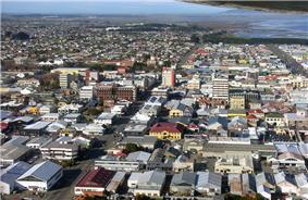 August 2005 view over central Invercargill