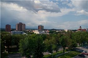 Skyline of Lethbridge