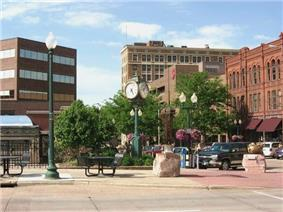 Downtown Sioux Falls, near the intersection of 10th St. and Phillips Ave.