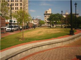 Downtown Green Space in Alexandria, LA
