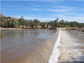 Draa River in Agdz