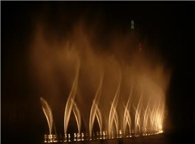 Dubai Fountain performing