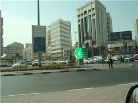 Northern periphery of Al Mankhool at the intersection of Khaled bin Al Waleed Street and Al Mankhool Road.