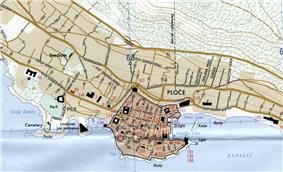 1995 map of Dubrovnik