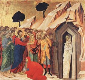 Raising of Lazarusby Duccio