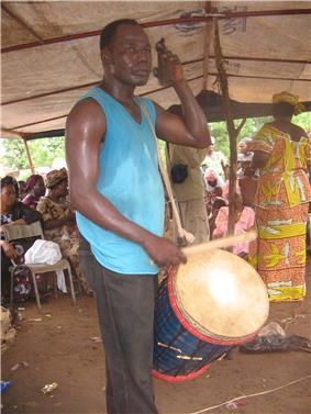 Khassonka player in Mali