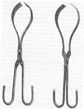 Dussee forceps with its two different locks
