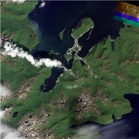 Natural-colour image of Dutch Harbor