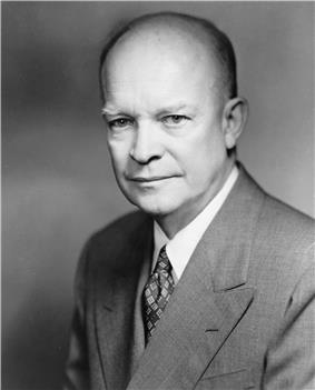 Dwight D. Eisenhower, thirty-forth President of the United States