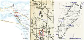 Map of Dyea/Skagway routes