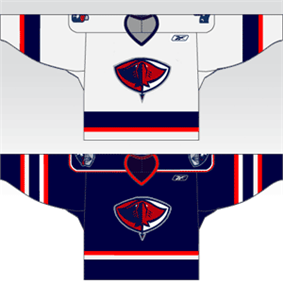 Current Stingrays home and away jerseys.