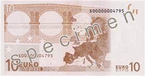 Former 5 euro note (Reverse)