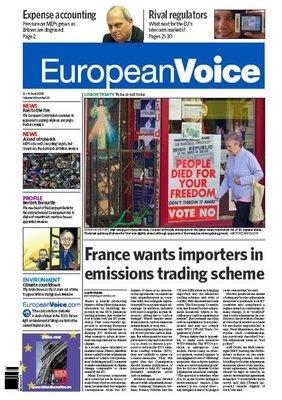 European Voice front page