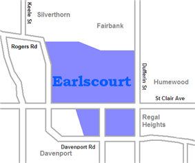 Location of Earlscourt
