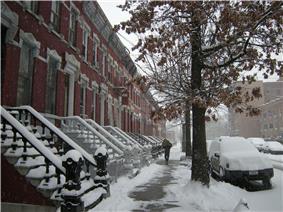 East 139th Street, between Willis and Brook Avenues, facing east