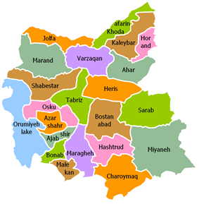 East Azerbaijan counties