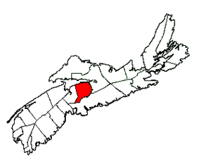 Location of District of the Municipality of East Hants