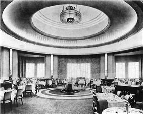 Interior view of the Round Room restaurant in 1931