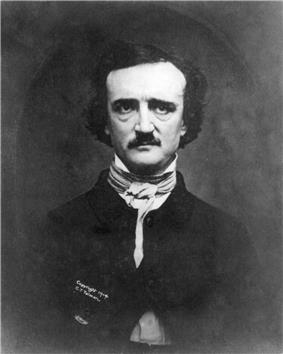 A photograph of Edgar Allan Poe