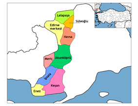 Districts of Edirne